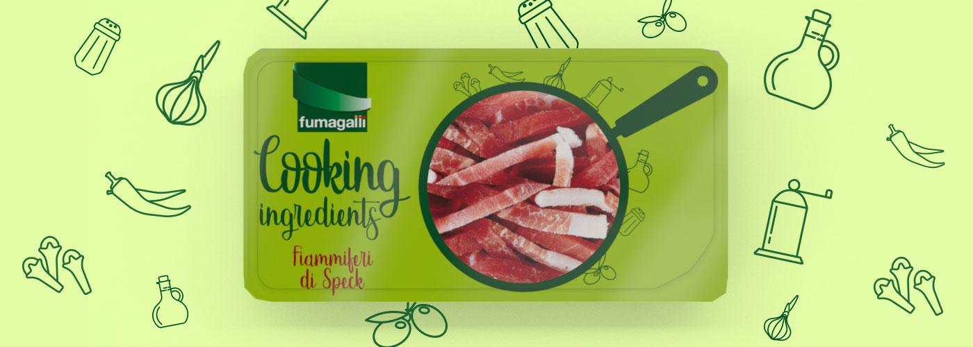 Packaging design nuova range Cooking Ingredients Fumagalli Salumi