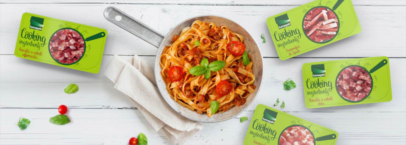 Fumagalli salumi new pack design per Cooking Ingredients linea prodotti