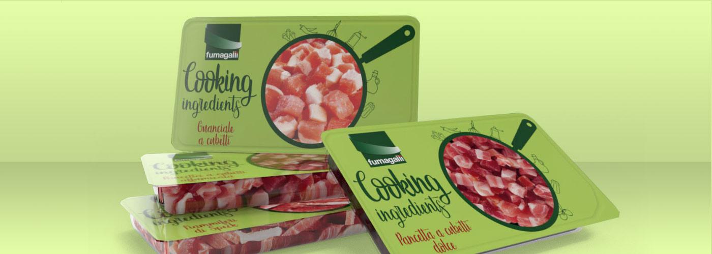 Fumagalli salumi new pack design for Cooking Ingredients range