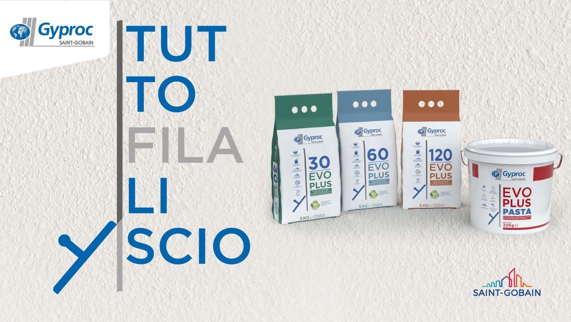 Repackaging di ATC – All Things Communicate per la gamma di stucchi di Saint-Gobain Italia a marchio Gyproc