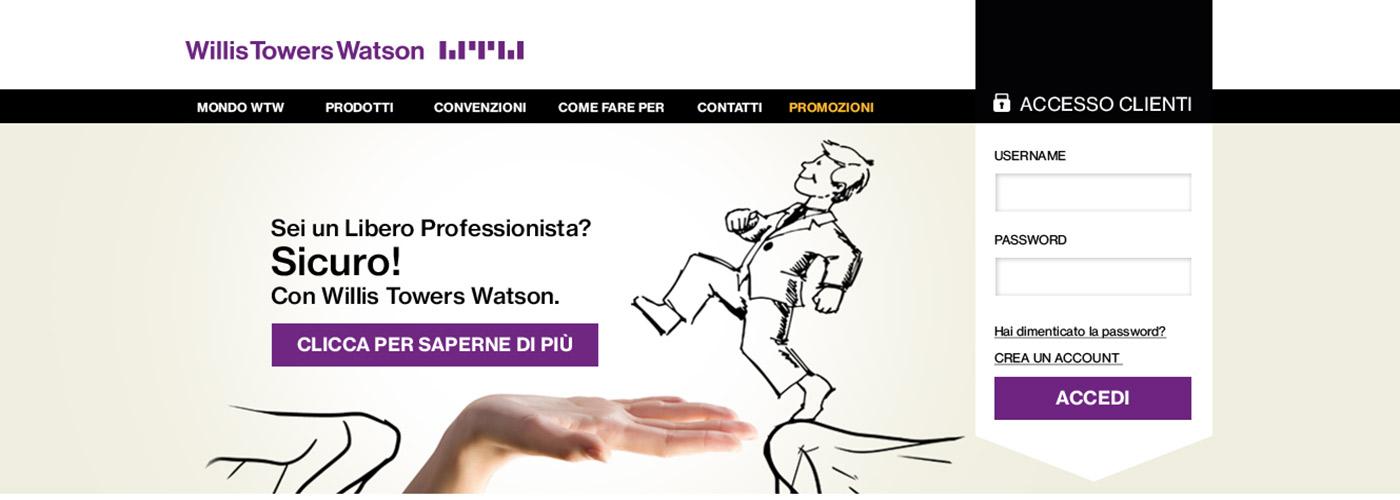 Piattaforma online prodotti assicurativi Willis Tower Watson