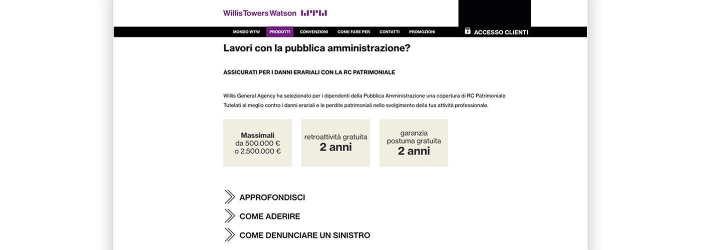 Atc disegna nuovo sito per Willis Tower Watson
