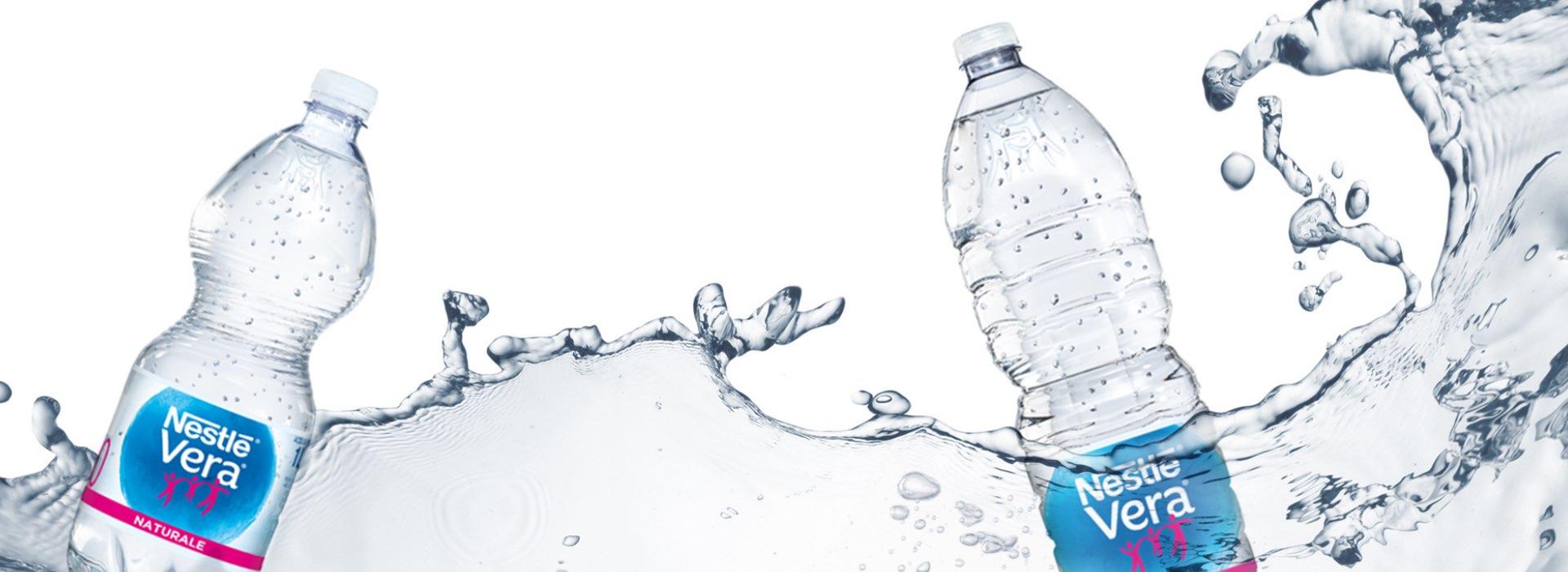 restyling confezioni acqua Nestlé Vera