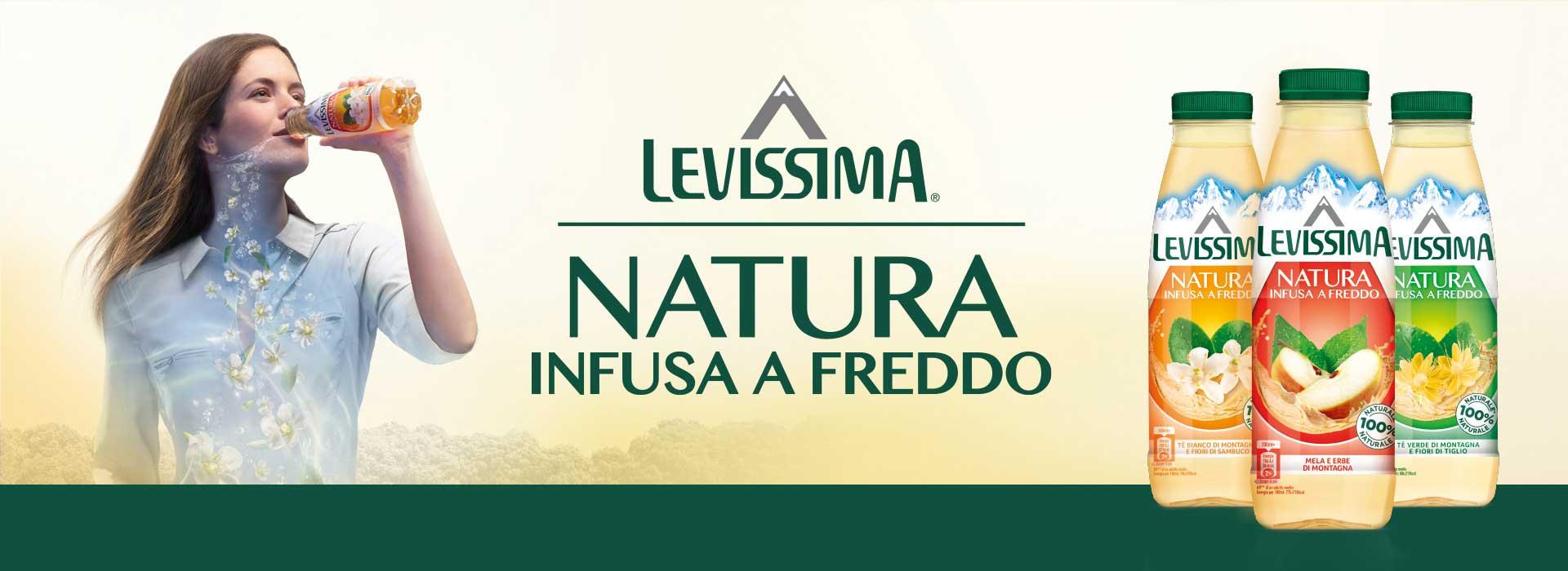 la nuova linea di acque aromatizzate healthy di Levissima