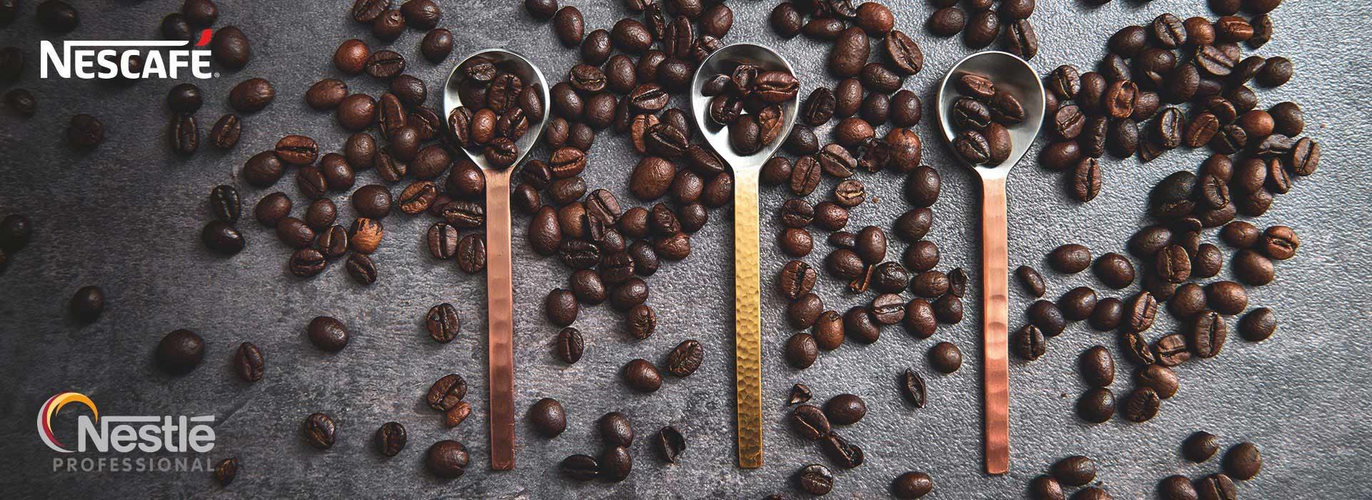 Nescafé lancio caffè in grani cucchiaini