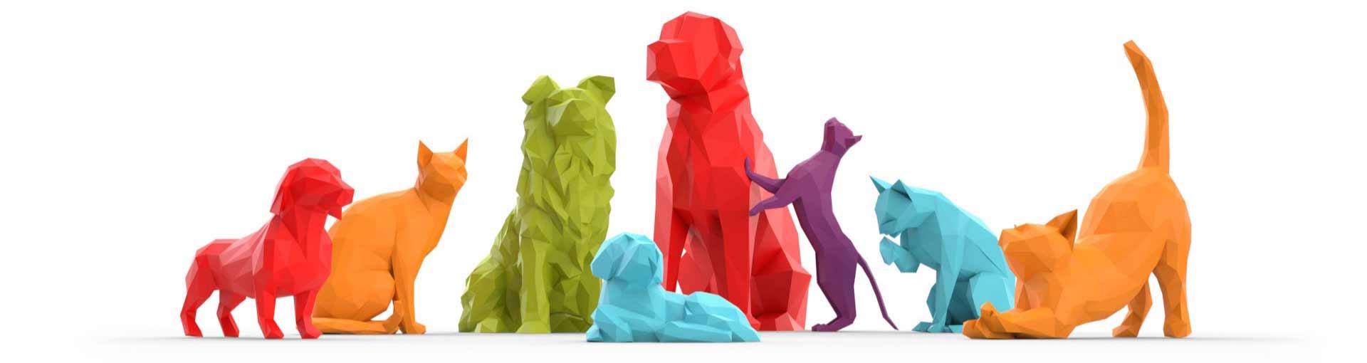 animali decoratovi  uffici Purina