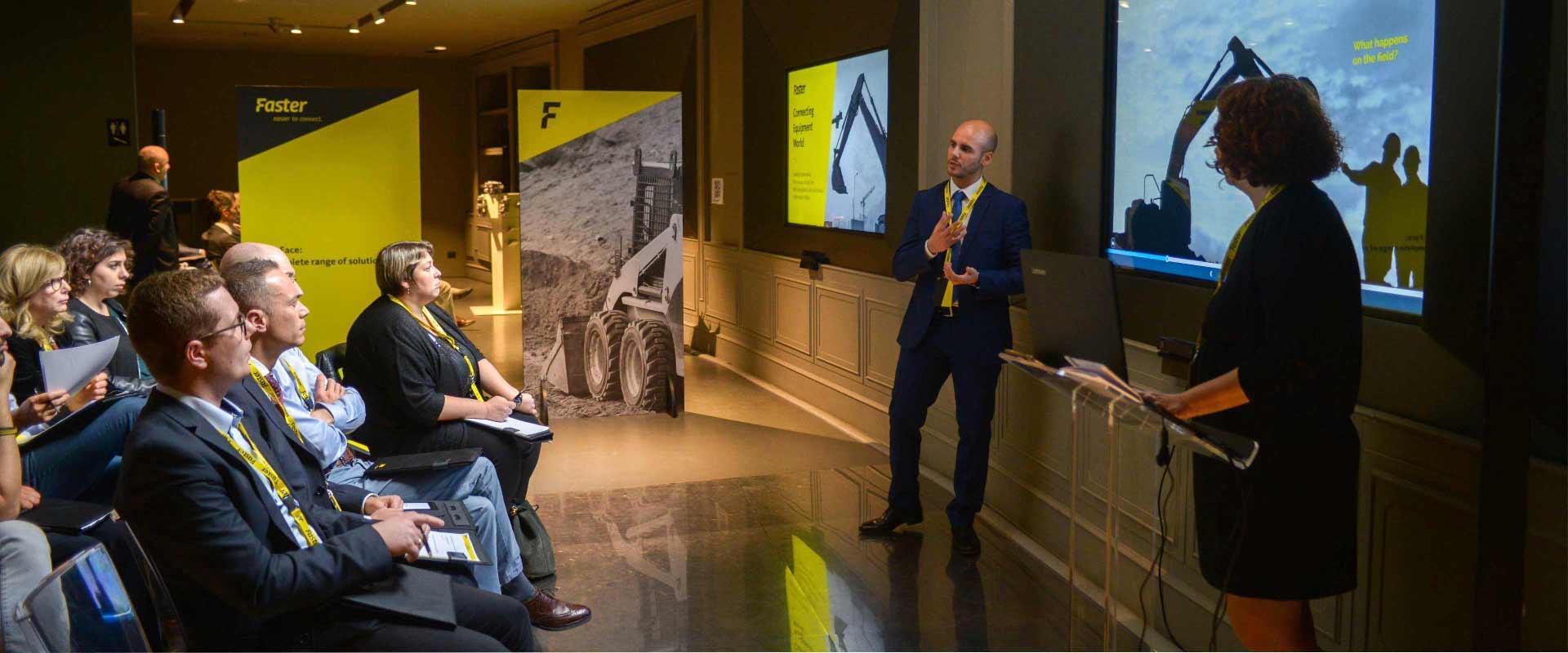 CEO e manager aziende clienti settore construction Faster partecipano a evento organizzato da ATC al Bou-Tek