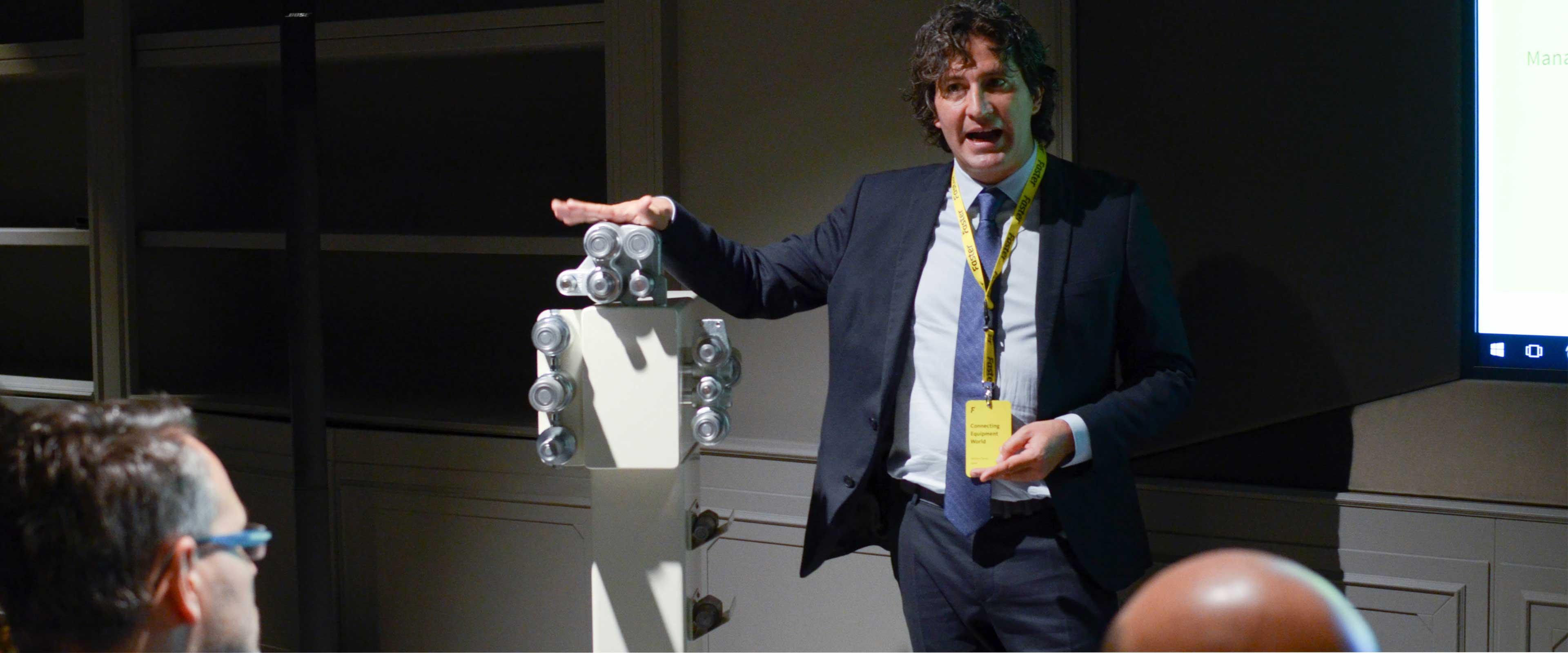 Giancarlo Bruno Rai special guest a evento di ATC per Faster al Bou-tek Milano