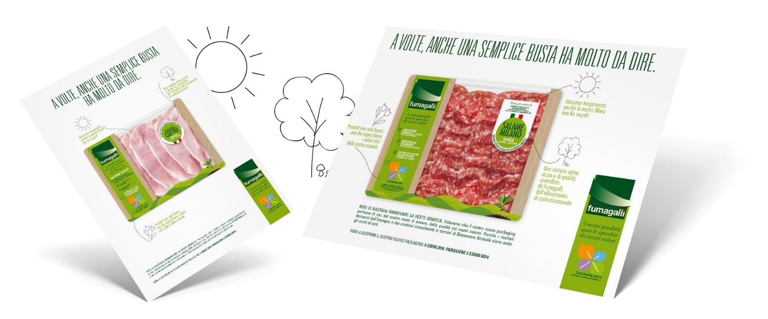 materiali punto vendita confezioni packaging salumi Fumagalli etichetta etica