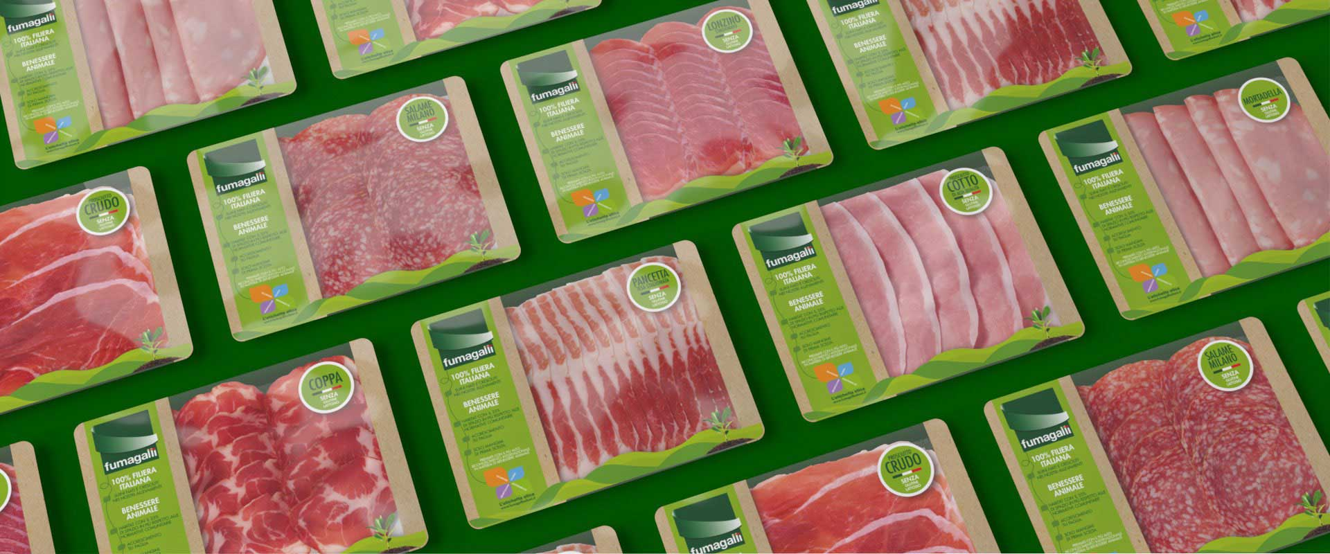 packaging design buste salumi Fumagalli etichetta etica GDO