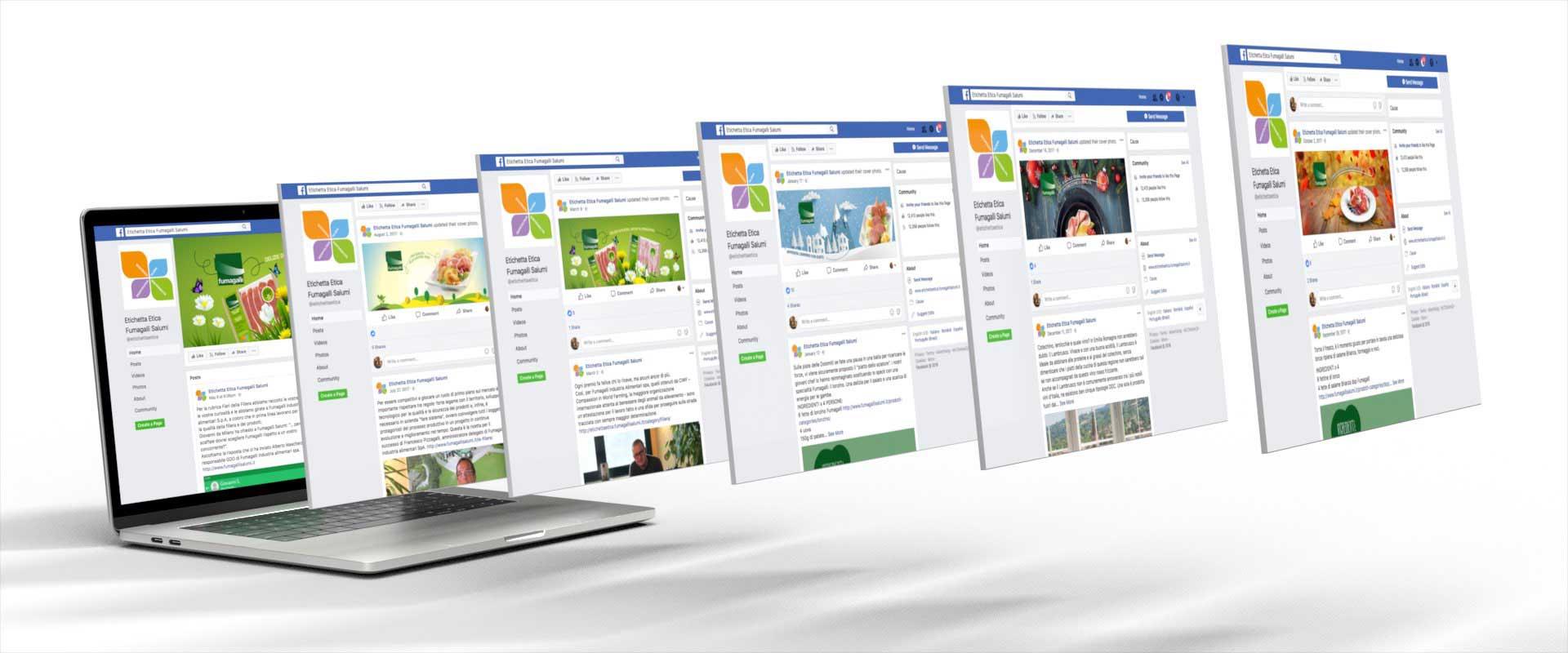 strategia di comunicazione social e digital activation Fumagalli salumi etichetta etica facebook