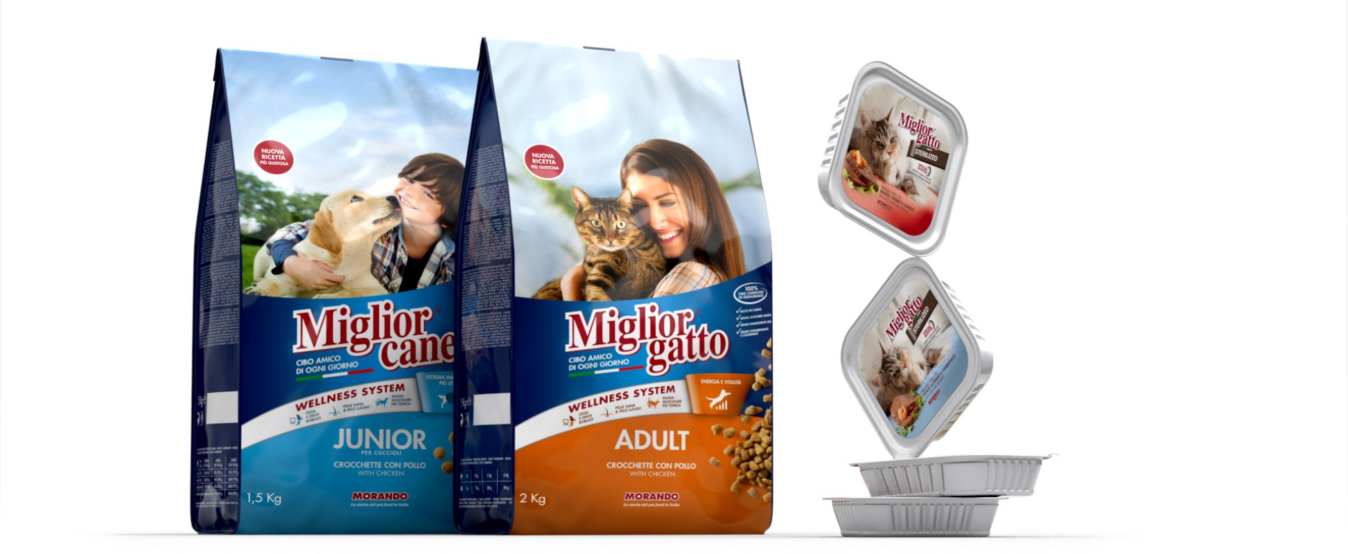 packaging design migliogatto secco sterilized umido