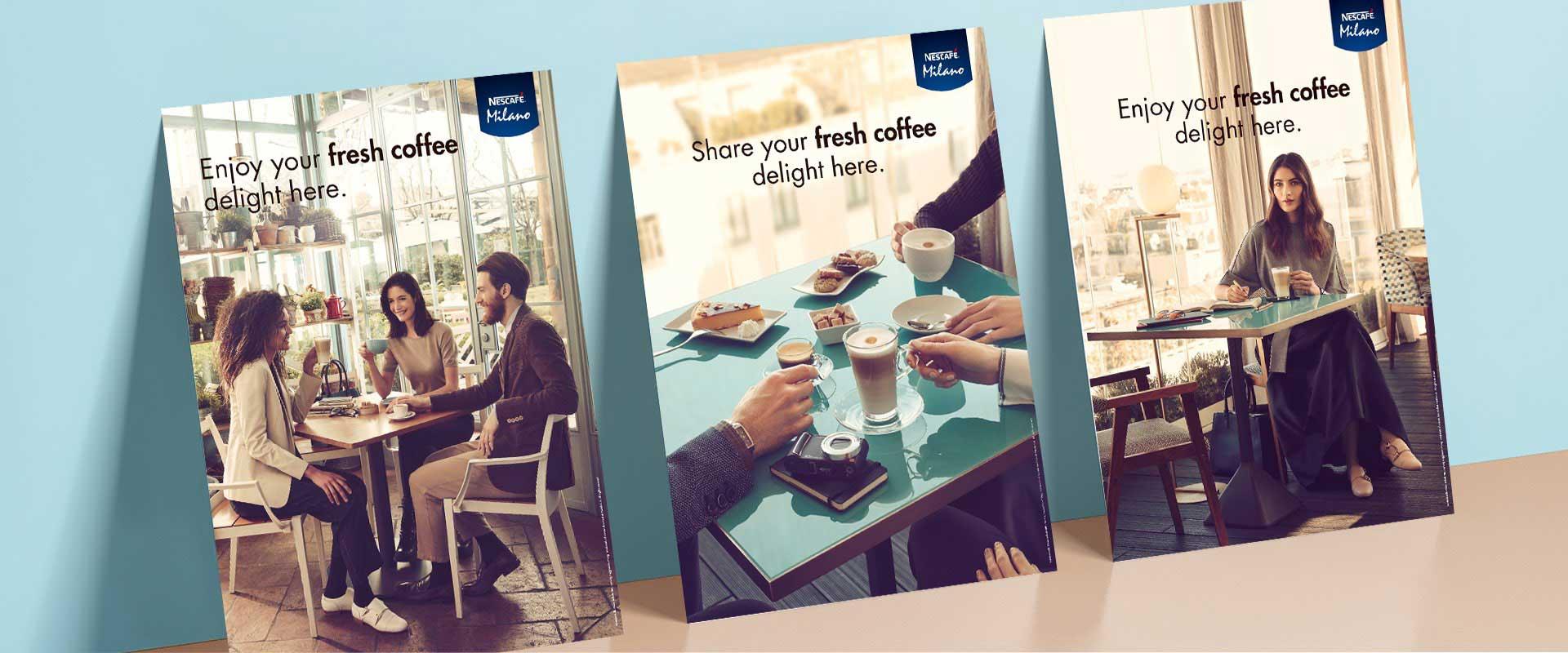 creatività concept design campagna trade nescafé COMBI Nestlé
