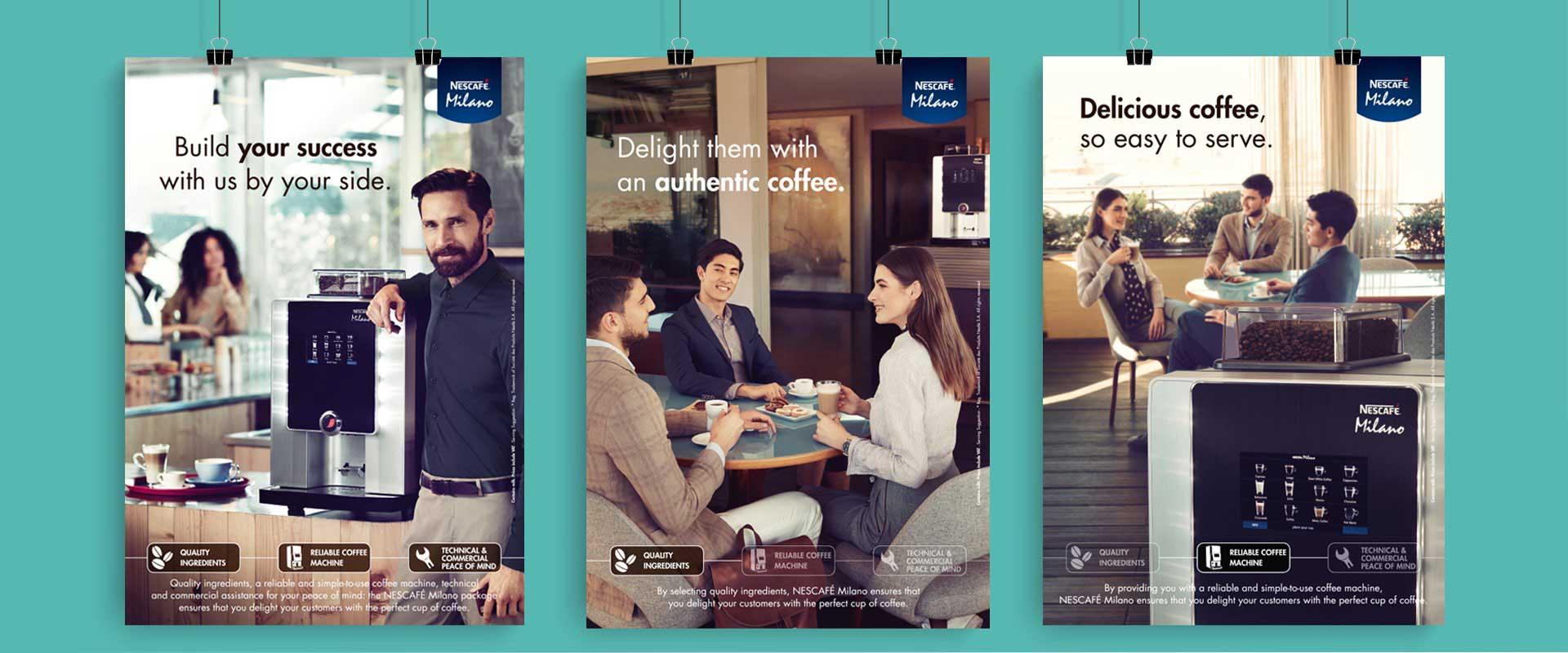 concept and content creation, branding Nescafé COMBI