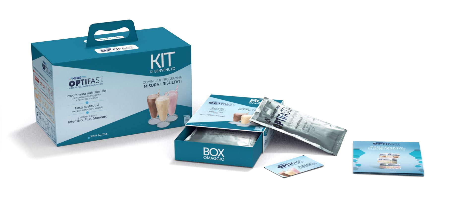 below the line e packaging design kit OPTIFAST per medici e pazienti con campione in omaggio