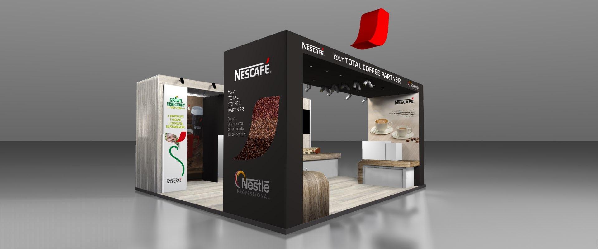 design stand SIGEP Nestlé professional Nescafé