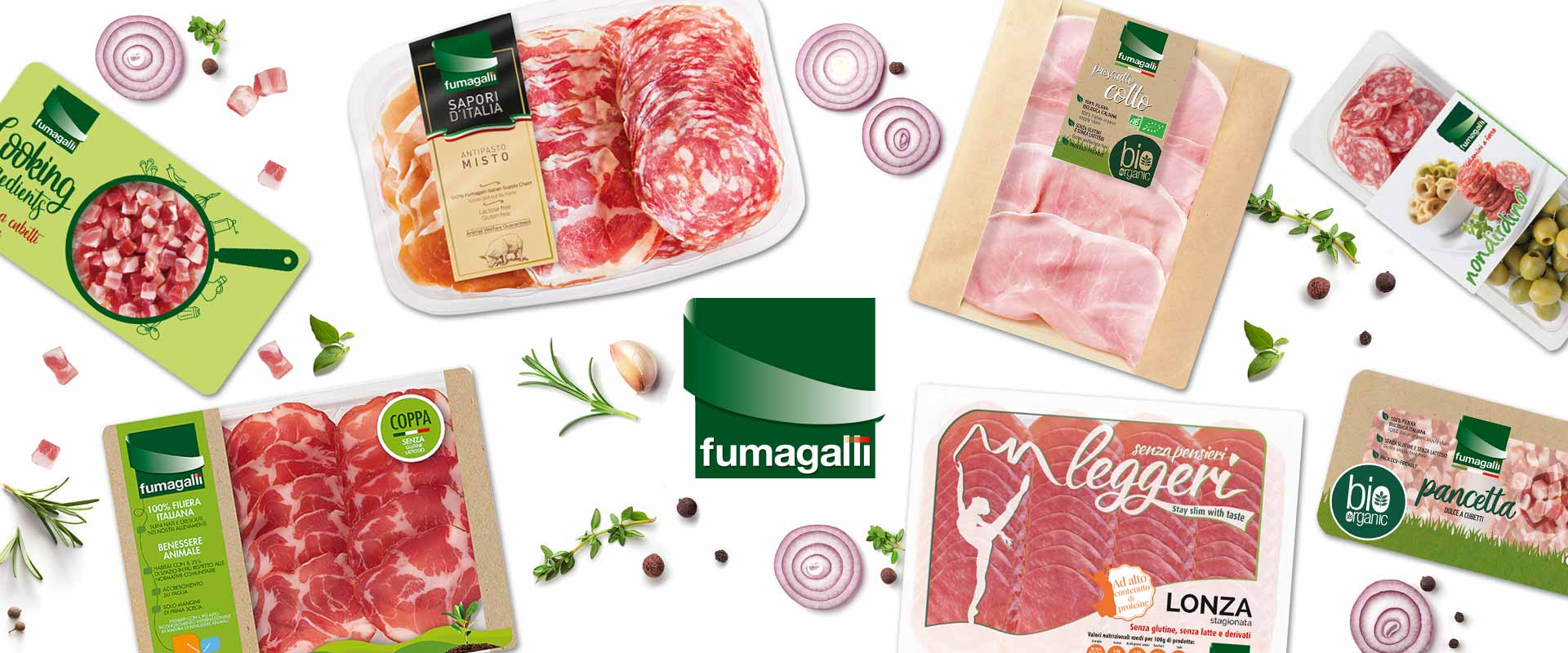 Packaging Fumagalli. Salumi differenti per ogni gusto.