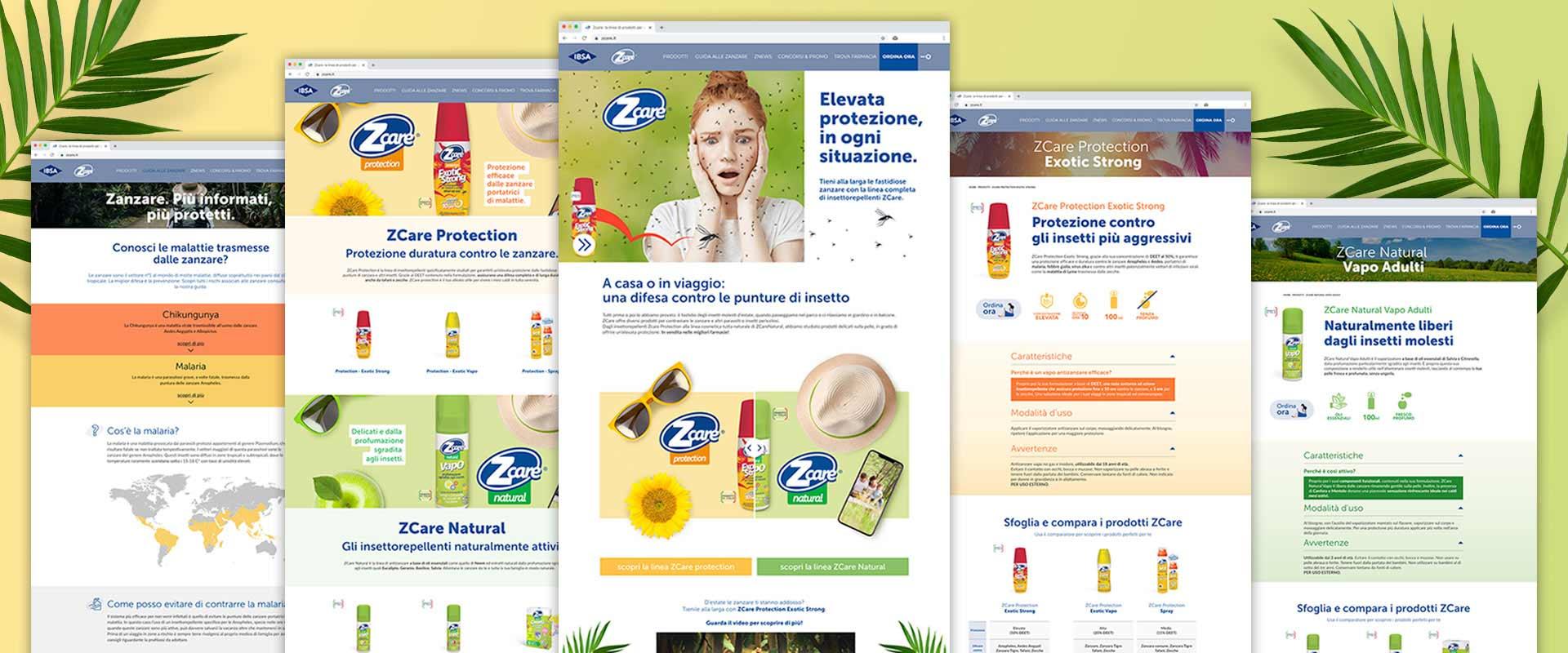 Re-design delle pagine del nuovo sito ZCare