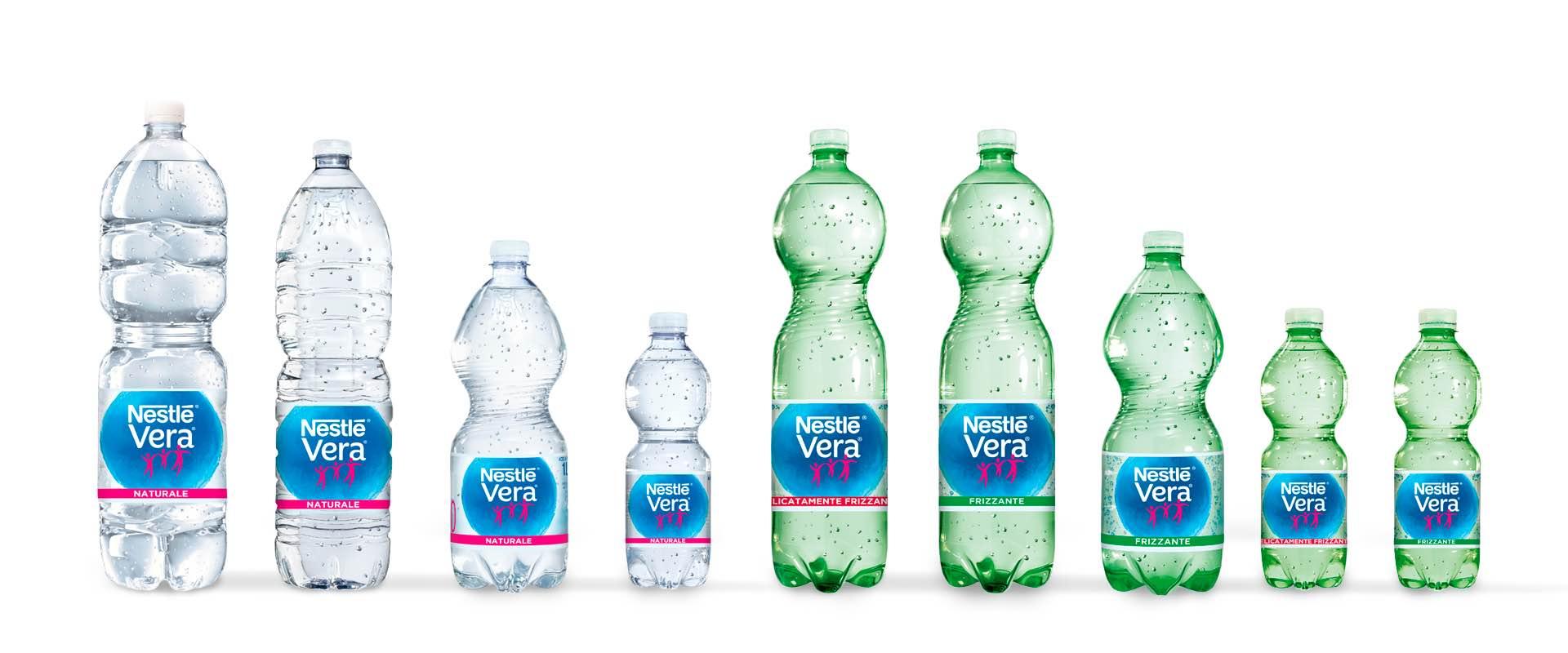 rilancio acqua Nestlé Vera gamma naturale e frizzante