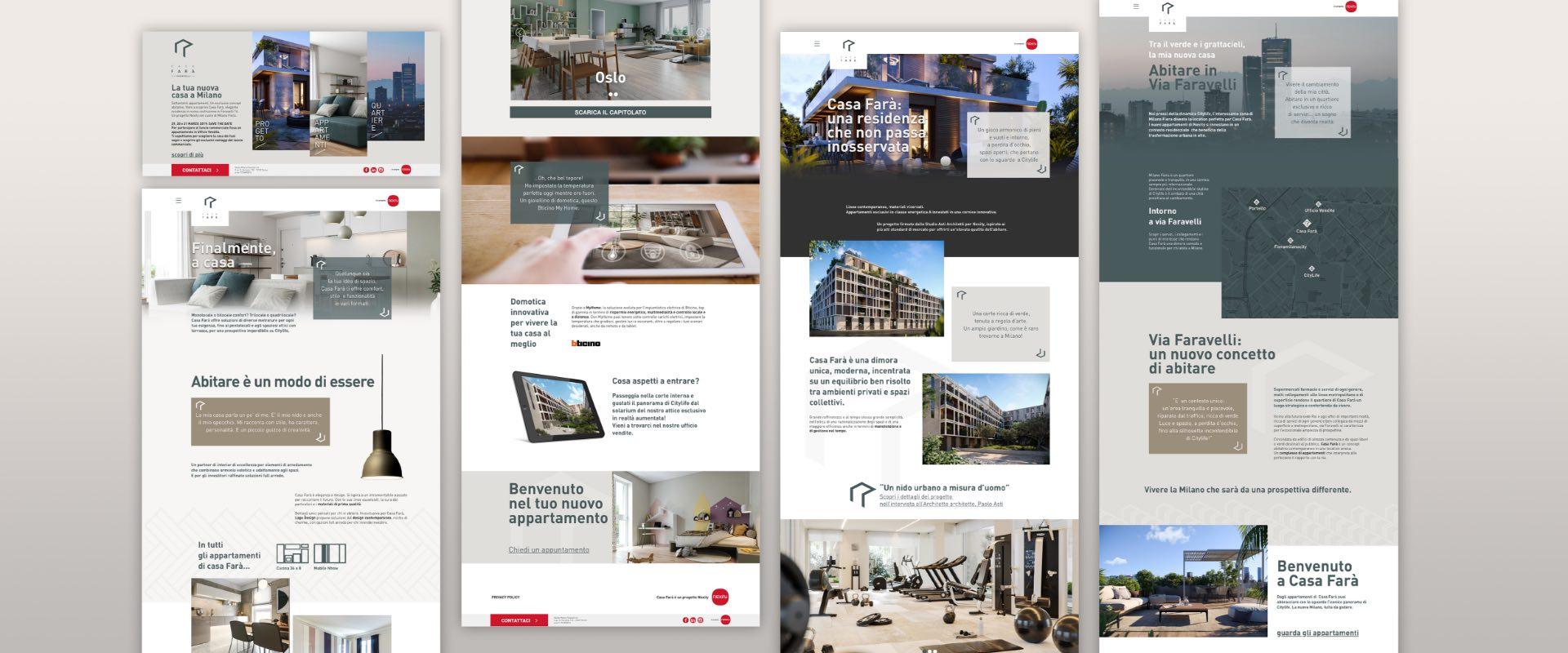 casa-fara.it è il mini website del gruppo del real estate Nexity Italia