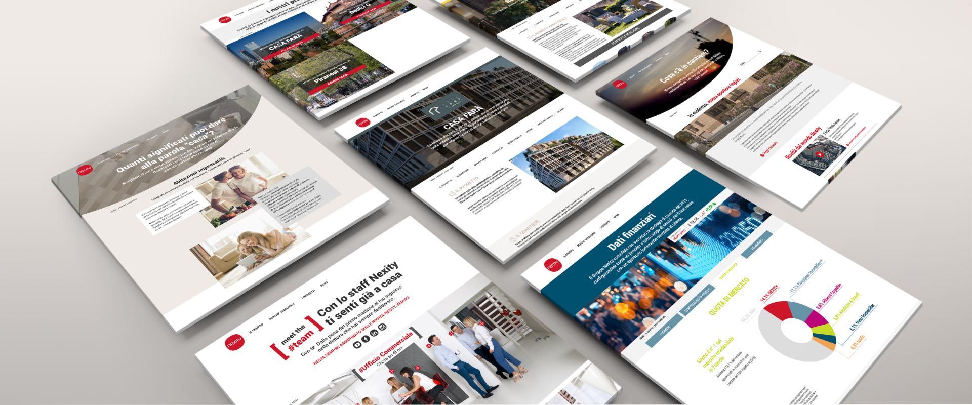 Nexity .it sito corporate ottimizzato per la fruizione e i motori di ricerca