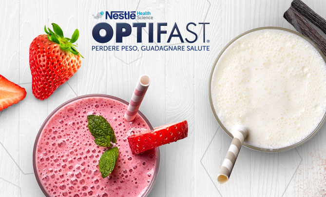 Web design per il lancio del pasto sostitutivo Optifast Nestlé Health Science